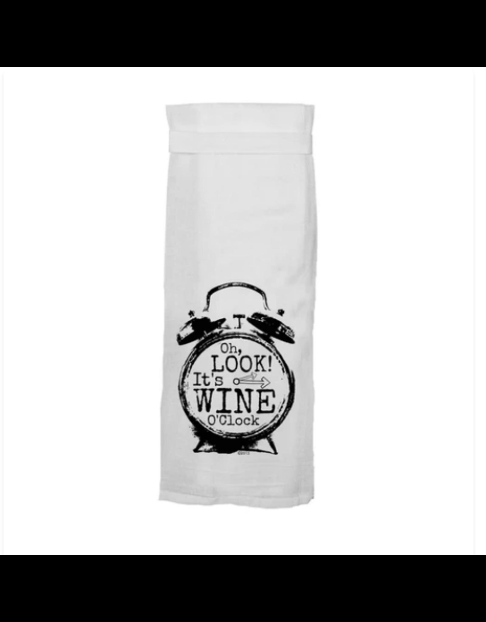 Flour Sack Towel, Wine O'Clock