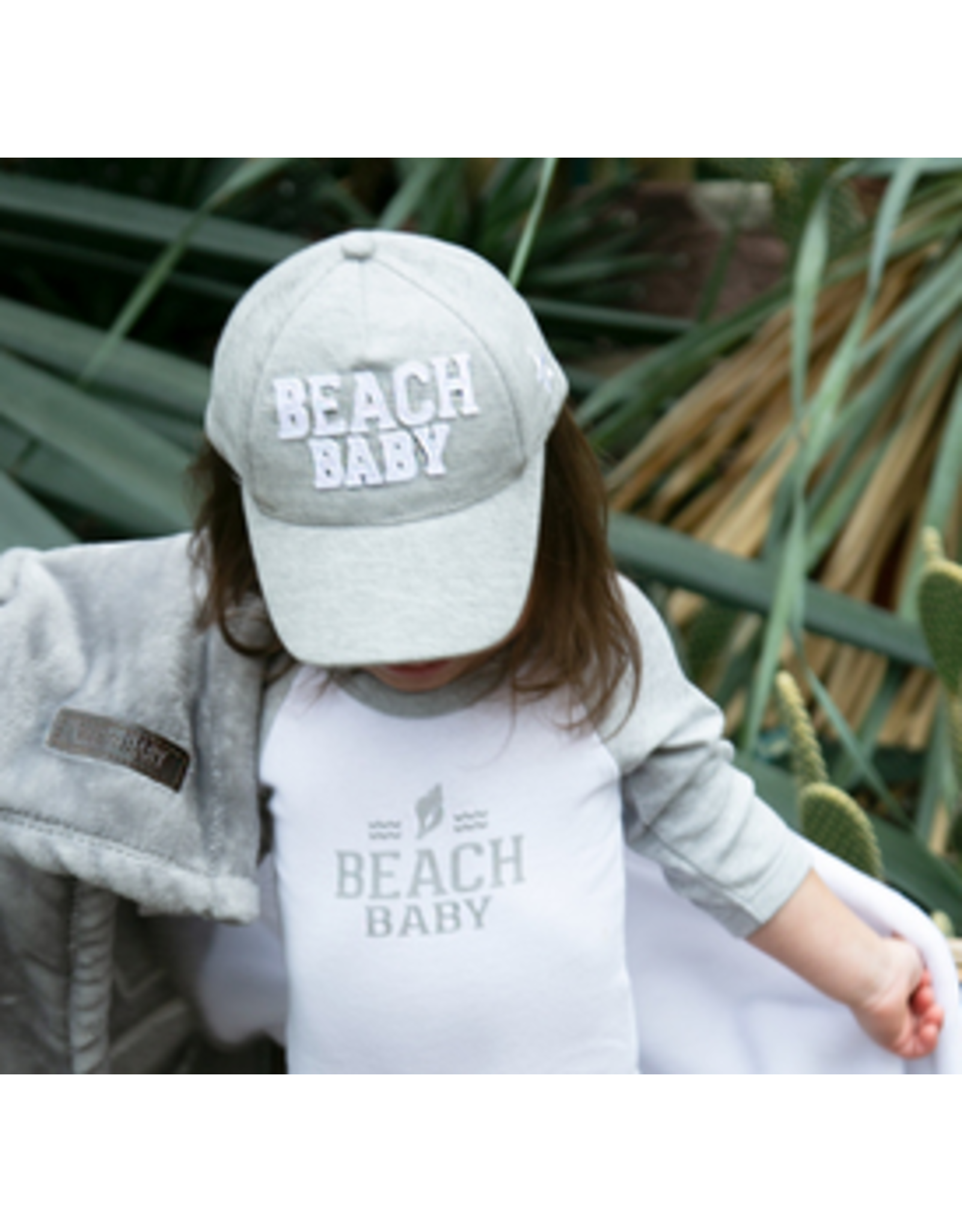 Beach Baby Ball Ball Hat, grey