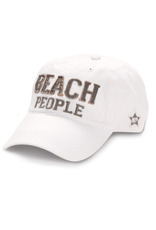 Beach People Ball Hat, white