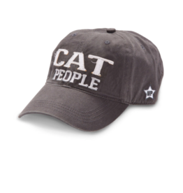 Cat People Ball Hat, grey