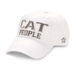 Cat People Ball Hat, white