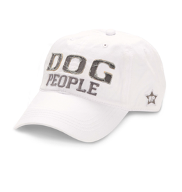 Dog People Ball Hat, white