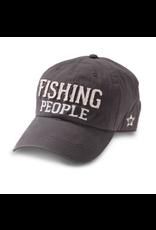 Fishing People Ball Hat, grey