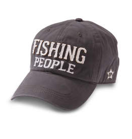 Fishing People Ball Hat, grey