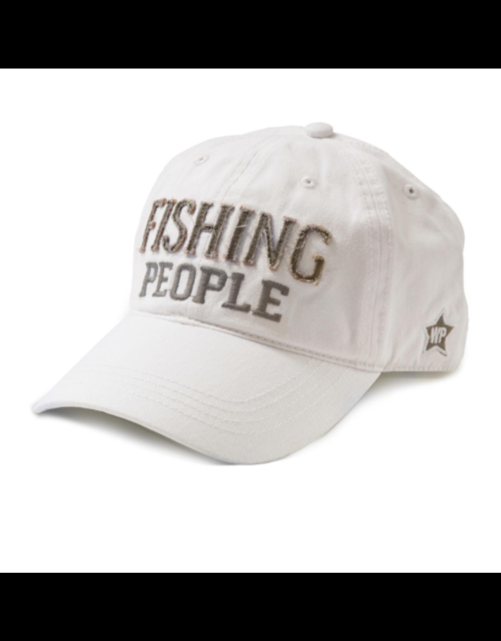 Fishing People Ball Hat, white