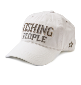 Fishing People Ball Hat, white