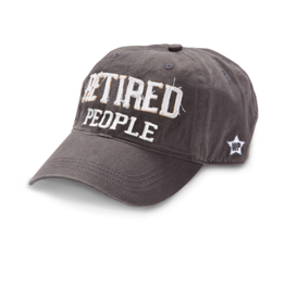Retired People Ball Hat, grey