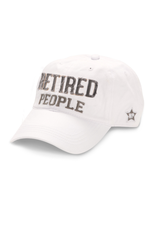 Retired People Ball Hat, white
