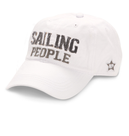 Sailing People Ball Hat, white