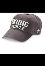 Skiing People Ball Hat, grey