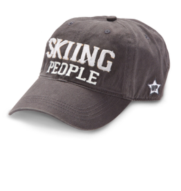 Skiing People Ball Hat, grey