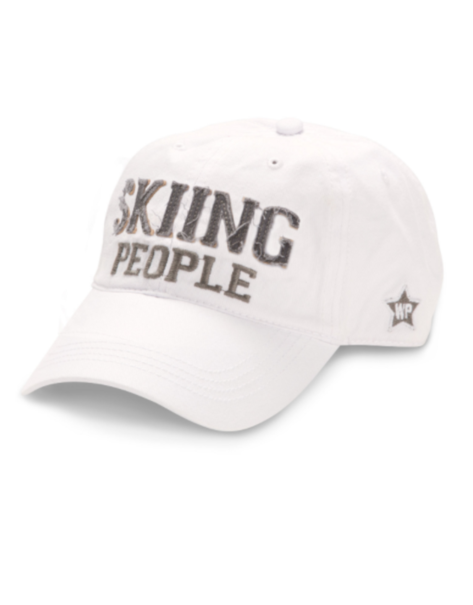 Skiing People Ball Hat, white