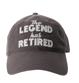 The Legend Has Retired Ball Hat, grey