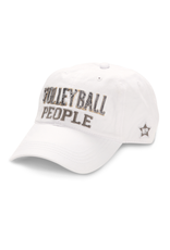 Volleyball People Ball Hat, white