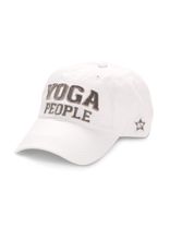 Yoga People Ball Hat, white