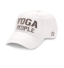 Yoga People Ball Hat, white