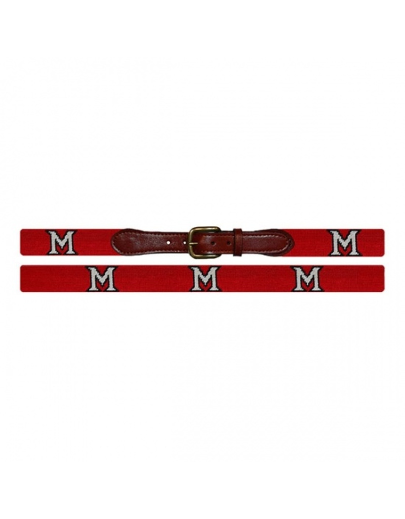 Smathers & Branson Miami University Needlepoint Belt
