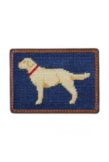 Smathers & Branson Yellow Lab Needlepoint Card Wallet