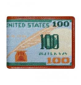 Smathers & Branson Benjamin Needlepoint Bi-Fold Wallet