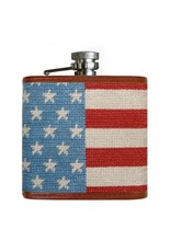 Smathers & Branson Stars and Stripes Needlepoint Flask