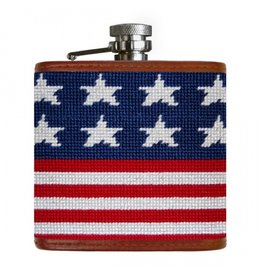 Smathers & Branson Old Glory Needlepoint Flask