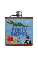 Smathers & Branson Party Animal Needlepoint Flask