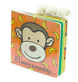 Jellycat Book, If I Were a Monkey (orange)
