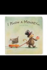 Jellycat Book, I Know a Monkey