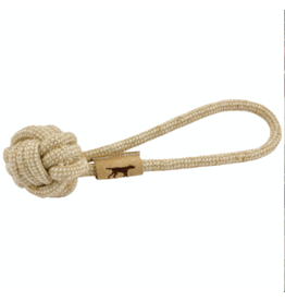 "13"" natural cotton/jute rope ball tug"