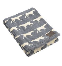 Fleece Pet Blanket, charcoal dog icon, 30x40