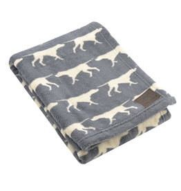 Fleece Pet Blanket, charcoal dog icon