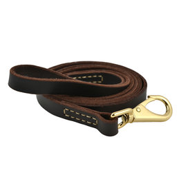 Leather Dog Leash, wt. up to 90 lbs