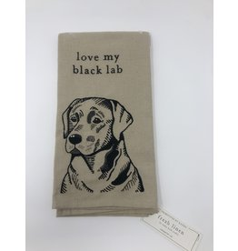 Dish Towel- Love My Black Lab