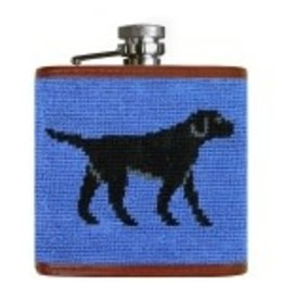 Smathers & Branson S&B Flask, Black Lab (blue background)