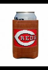 Smathers & Branson S&B Needlepoint Can Cooler, Cincinnati Reds