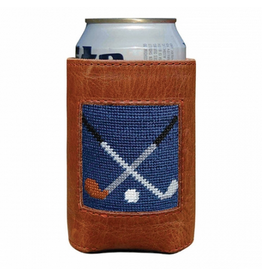 Smathers & Branson S&B Needlepoint Can Cooler, Crossed Clubs