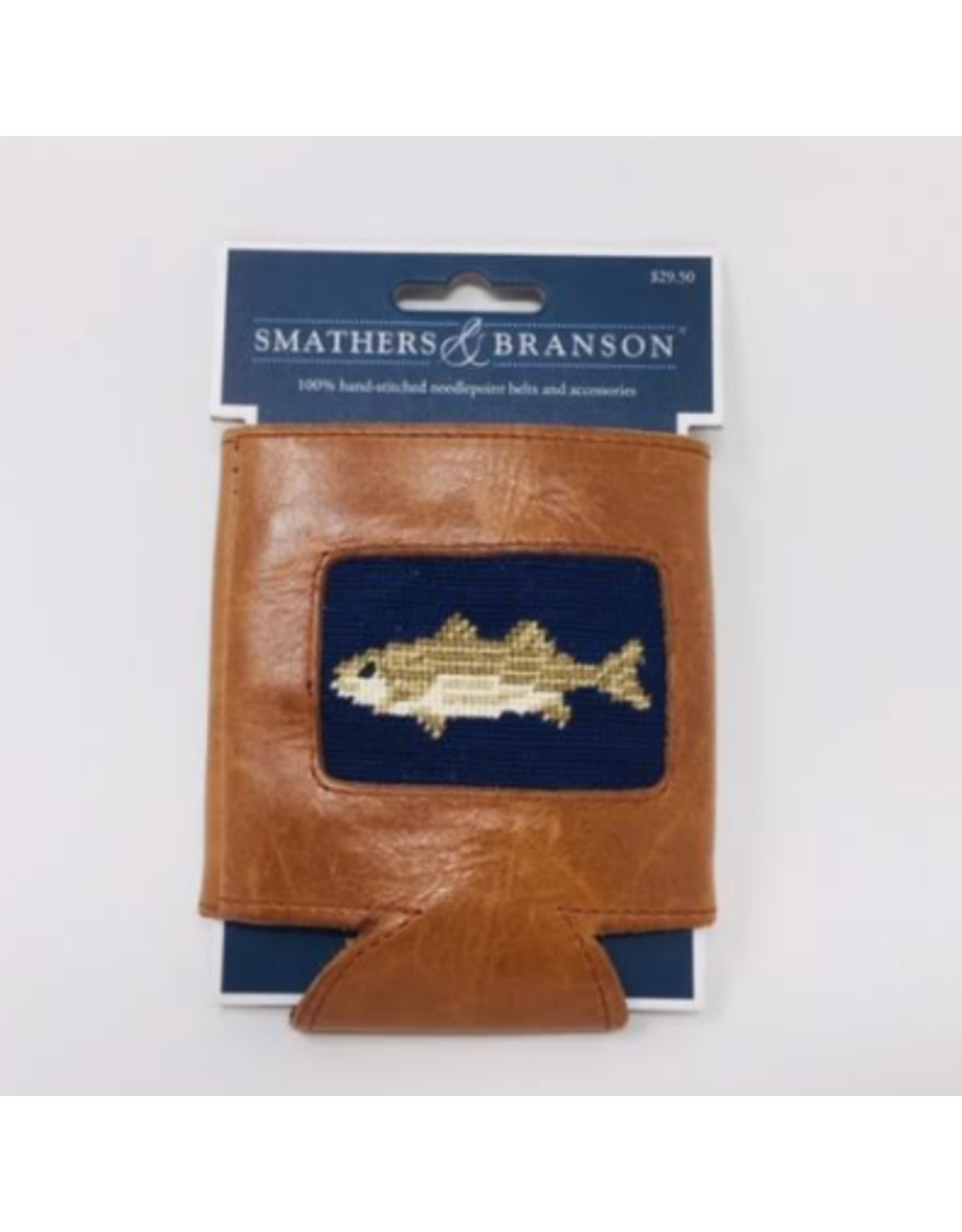 Smathers & Branson S&B Needlepoint Can Cooler, Striped Bass