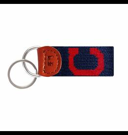 Smathers & Branson S&B Needlepoint Key Fob, Cleveland Indians