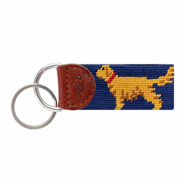 Smathers & Branson S&B Needlepoint Key Fob, Golden Retriever