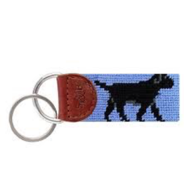 Smathers & Branson S&B Needlepoint Key Fob, Black Lab