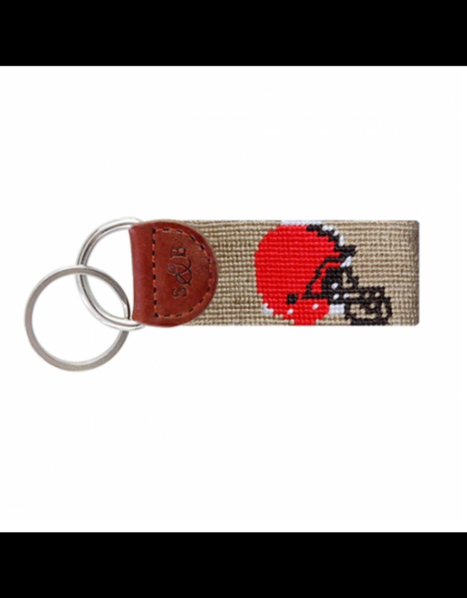 Smathers & Branson S&B Needlepoint Key Fob, Cleveland Browns