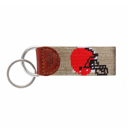Smathers & Branson S&B Needlepoint Key Fob, Cleveland Browns
