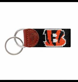 Smathers & Branson S&B Needlepoint Key Fob, Cincinnati Bengals
