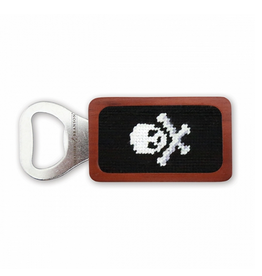 Smathers & Branson S&B Needlepoint Bottle Opener, Jolly Roger