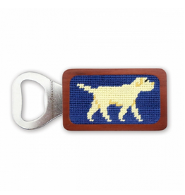 Smathers & Branson S&B Needlepoint Bottle Opener, Yellow Lab on Navy