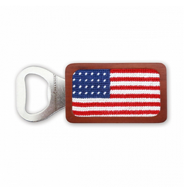 Smathers & Branson S&B Needlepoint Bottle Opener, American Flag