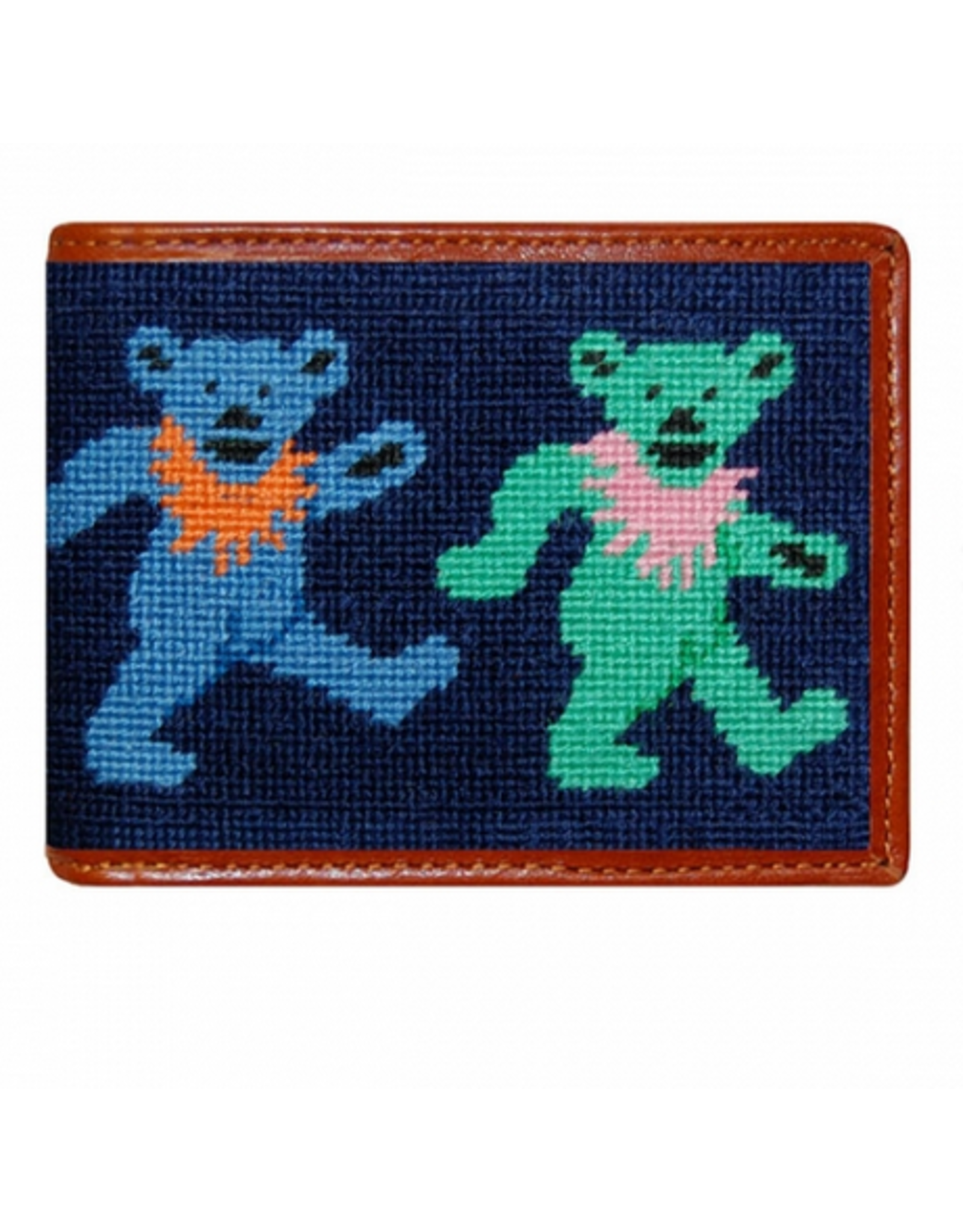 Smathers & Branson S&B Needlepoint Bi-fold Wallet, Dancing Bears