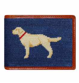 Smathers & Branson S&B Needlepoint Bi-fold Wallet, Yellow Lab