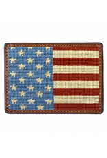 Smathers & Branson S&B Needlepoint Card Wallet, Stars and Stripes