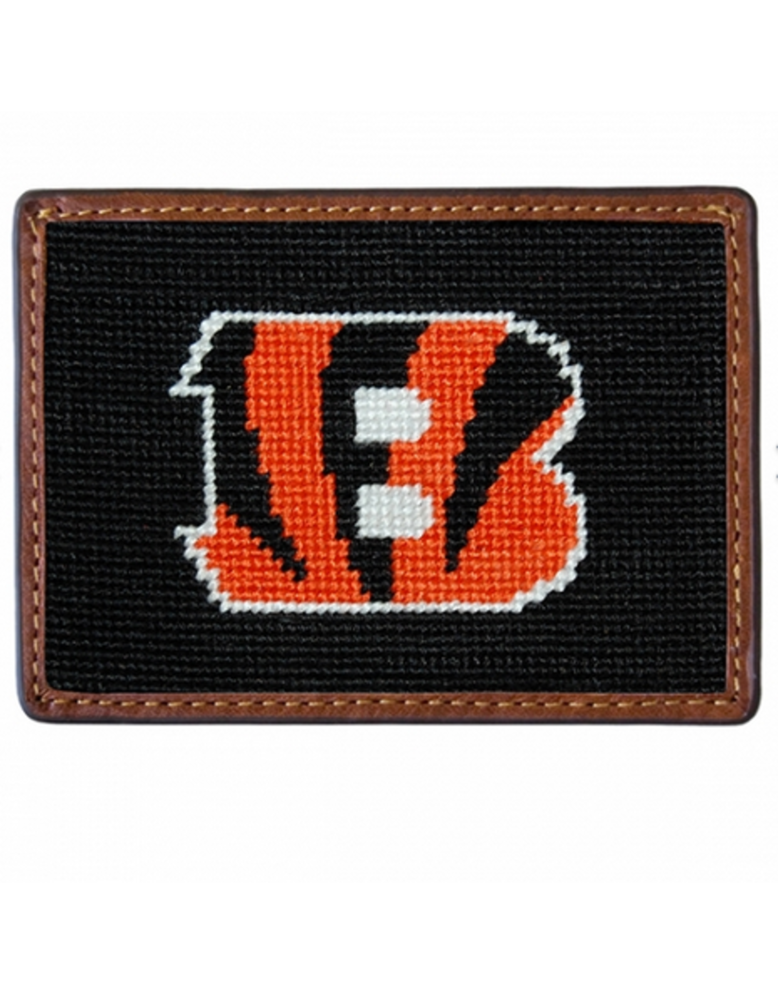 Smathers & Branson S&B Needlepoint Card Wallet, Cincinnati Bengals